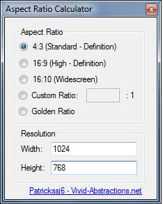 aspect-ratio-calculator